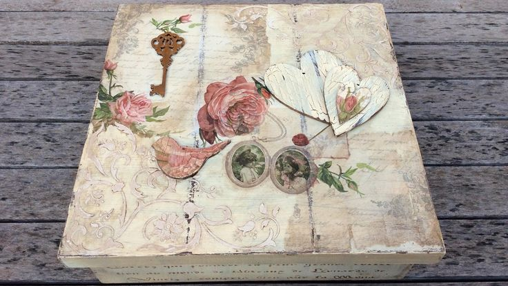 Caja de madera vintage  - MYBA