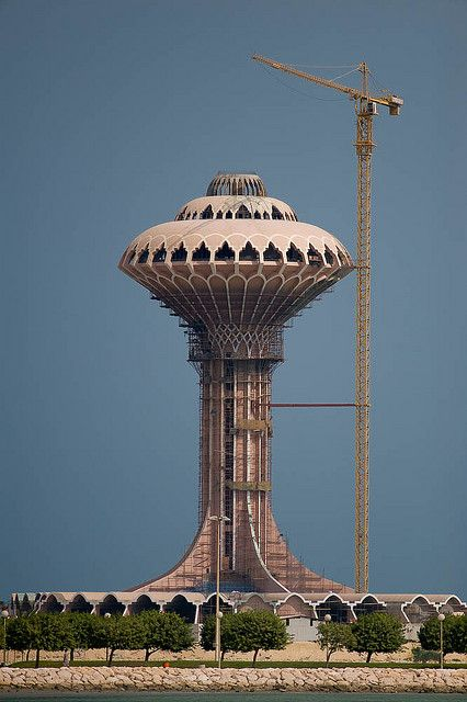 al khobar water tower . saudi arabia... They were building this thing for 12 years.