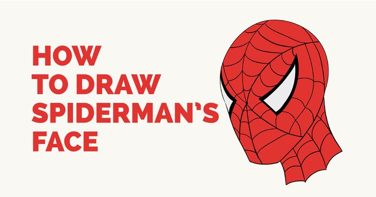 how to draw a spider on face