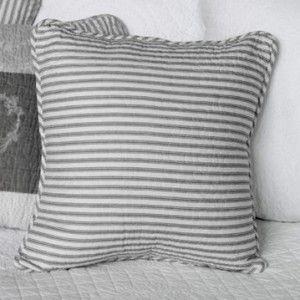 Biggie Best Grey Striped Quilted Cushion