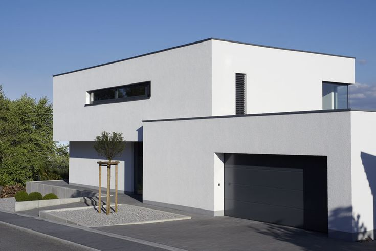 Fachwerk4 architekten bda haus w montabaur ansicht for Haus modern flachdach