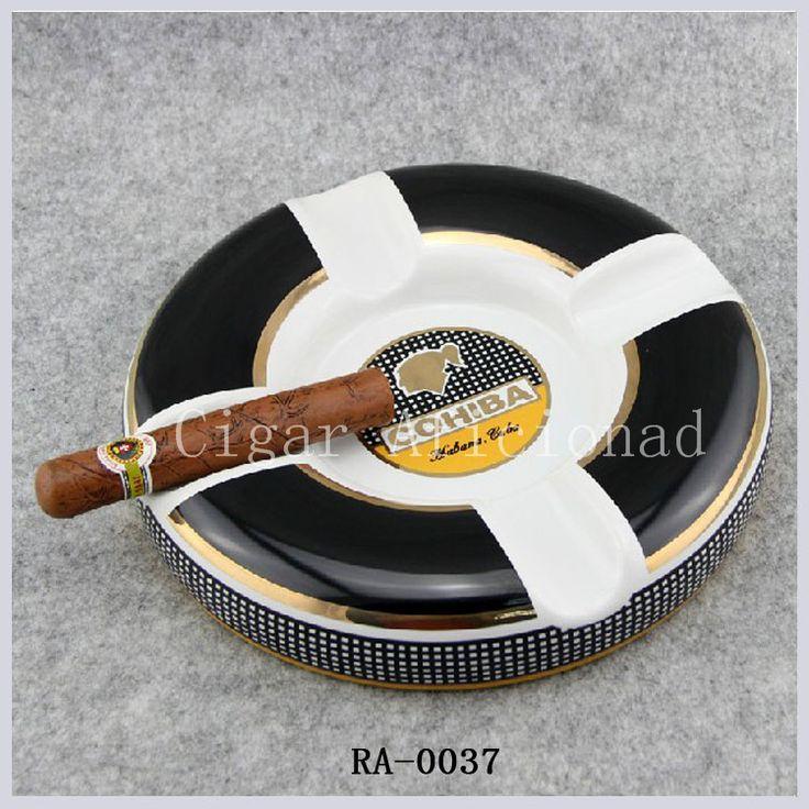 Cohiba гаджеты высокой - конец большой размер роскошных элегантный фарфор керамическая 9.5 дюймов круглый стол кубинскую сигару пепельница 4 отдых