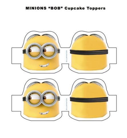 Minions bob cupcake toppers