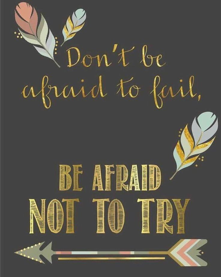 If You Fall Get Up And Try Again, Failure Is Not An Option