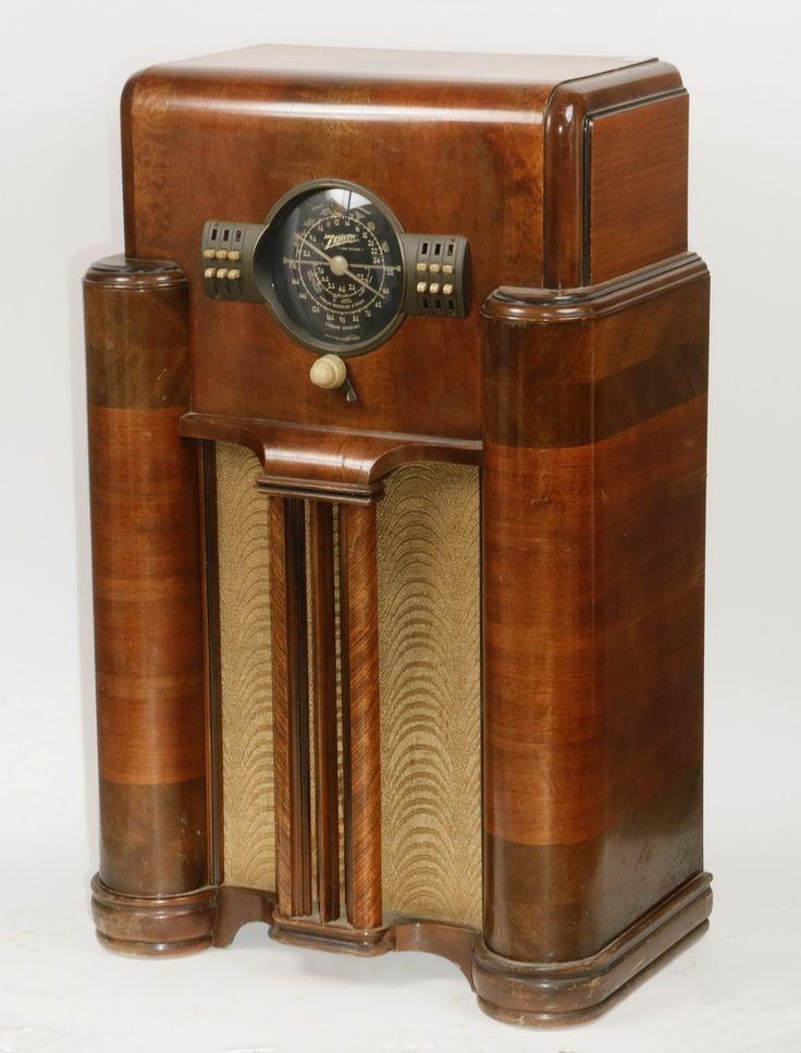Vintage Radios Ca. 193839 Zenith Console Radio Model