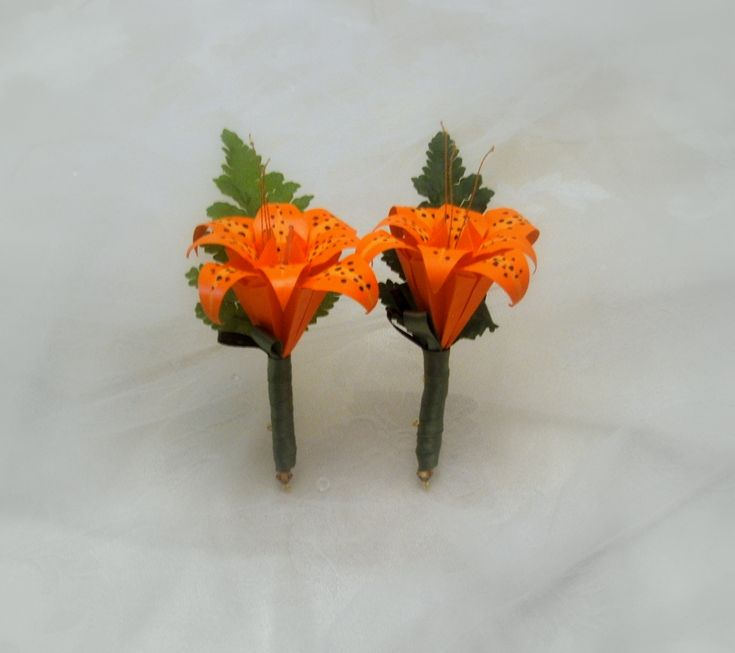 Tiger Lily Boutonniere