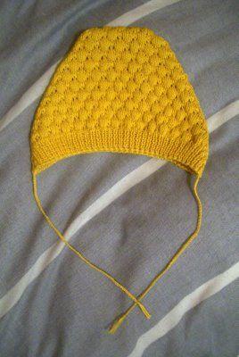 bobble hat - free vintage pattern