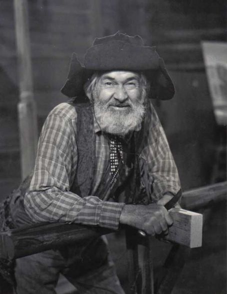 """George Francis """"Gabby"""" Hayes (1885–1969) a US radio, film & TV actor best known as the colorful sidekick of leading men in westerns. Ran away at 17, became a successful vaudevillian w his wife, Olive E. Ireland. At age 43, he retired but lost everything in the 1929 stock-market crash. His wife persuaded him to try movies. They moved to LA. He couldn't ride a horse & had to learn for film roles. They stayed together till her death in 1957. They had no children."""