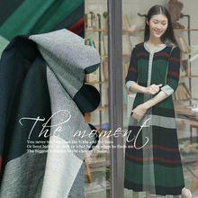 Бренд зеленый плед британский стиль хлопок пряжа-окрашенные рубашка ткань пальто платье юбка(China (Mainland))