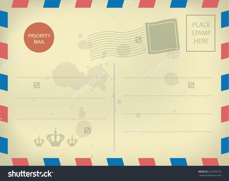Vintage Blank Postcard Template  Templates    Postcard