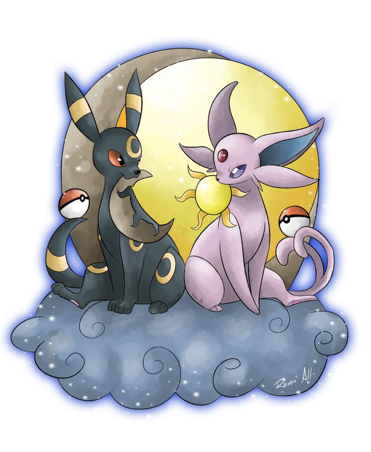 Day and Night by allocen ...  umbreon, espeon, pokemon