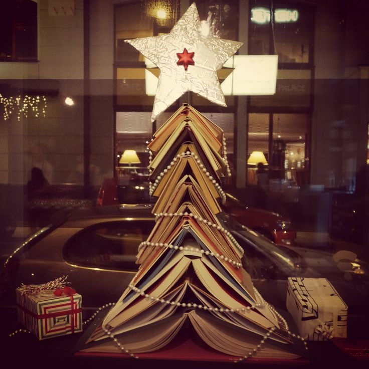 Xmas book tree in Soup in the City @ fusion hotel prague www.fusionhotels.com