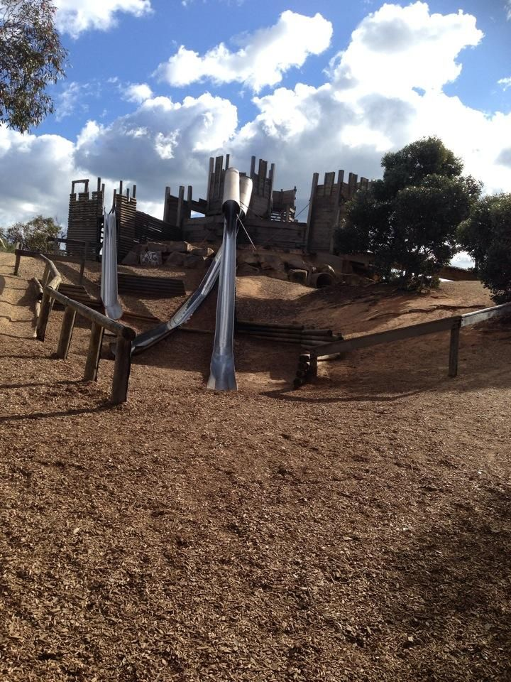 Kevin Slade shared this one of the castle slides via Twitter ‏@gleenglobes ·Aug 12 'Day out with Rebecca & the kids' #StKildaPlayground