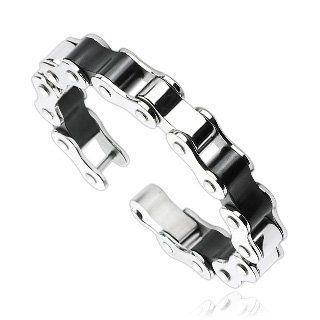 "316L Stainless Steel Duo Tone Bicycle Link Bracelet; Comes With FREE Gift Box Jinique. $25.99. High Quality Stainless Steel. Width: 0.55""; Length: 8.5; Thickness: 0.4"". Clasp: Fold-over. Weight: approx. 86 grams. Save 76% Off!"