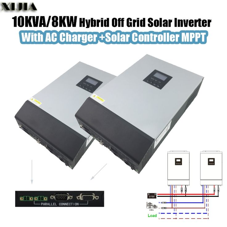 1260.00$  Buy here  - 10KVA 8000W Hybrid Pure Sine Wave Inverter with AC Charger+Solar Controller MPPT Parallel 2*SP-5KVA