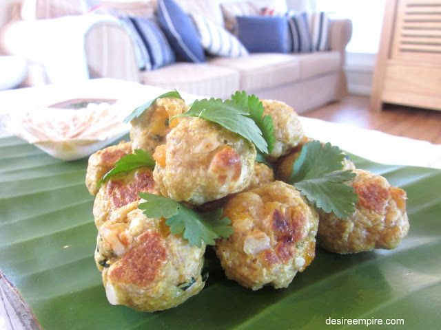 Spicy Chicken Balls with Asian Dipping Sauce