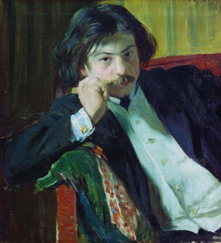 Portrait of Y.I. Lavrin, 1909  Boris Kustodiev