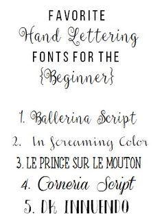 Favorite HAND LETTERING Fonts for the BEGINNER!