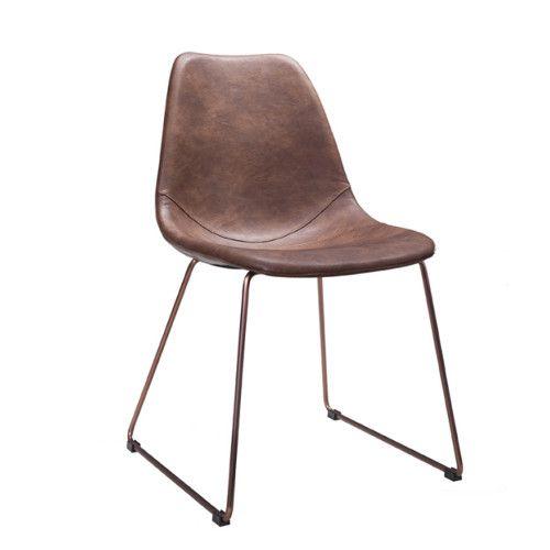 stol_läder_kopparben
