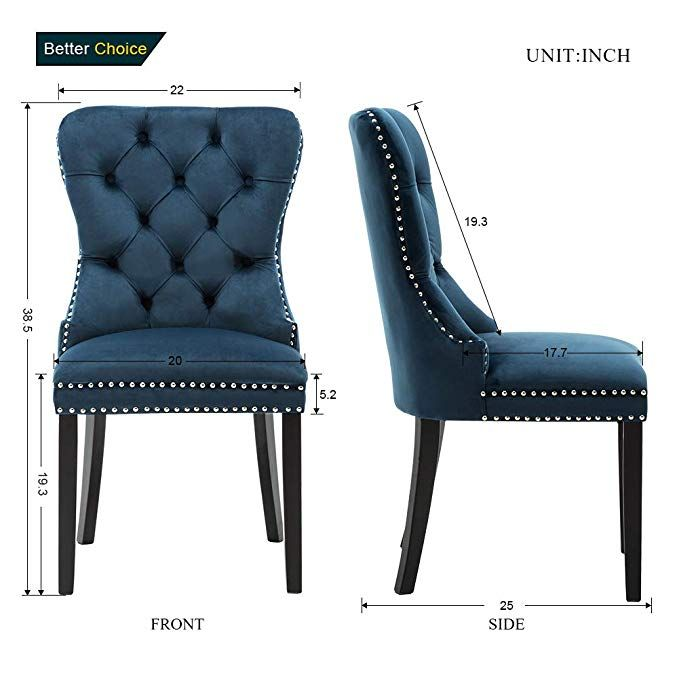 Amazon Com Elegant Upholstered Fabric Dining Chairs Armless Accent Chair Set Of 2 Button Tufted W Dining Chairs Reupholster Chair Upholstered Dining Chairs