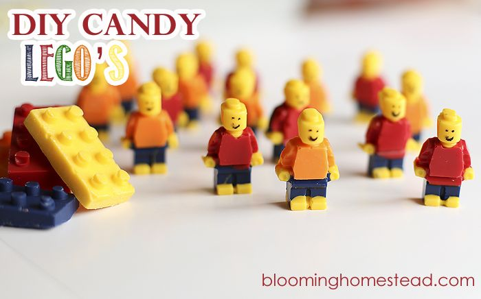 DIY Candy Legos...these edible chocolate legos will be the hit of any boy party!!