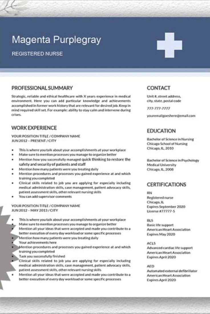 Medical resume nurse cv template doctor cv download