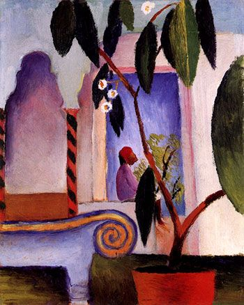 August Macke - Arabisches café, 1914 ~Repinned Via Elly Withofs