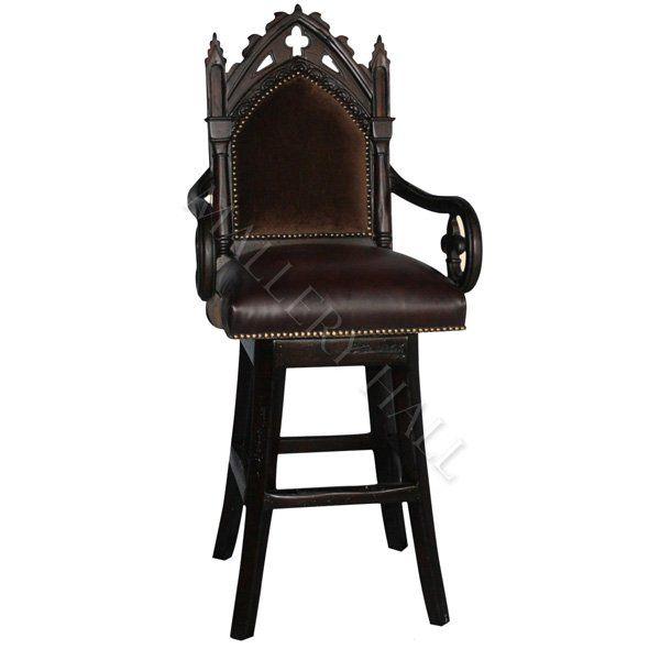 odd furniture pieces. gothic cross mahogany leather u0026 velvet swivel barstools odd furniture pieces c