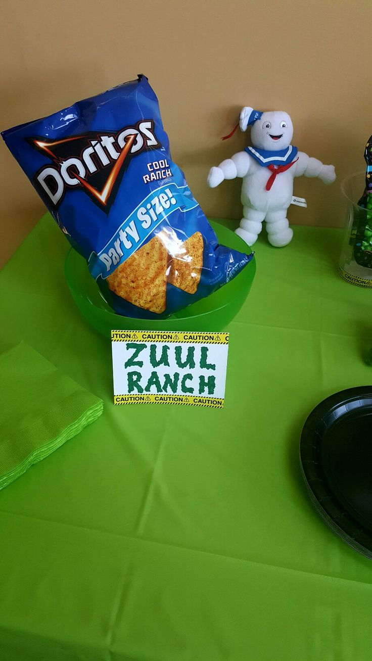 """Ghostbusters party """"Zuul Ranch"""" chips                                                                                                                                                                                 More"""
