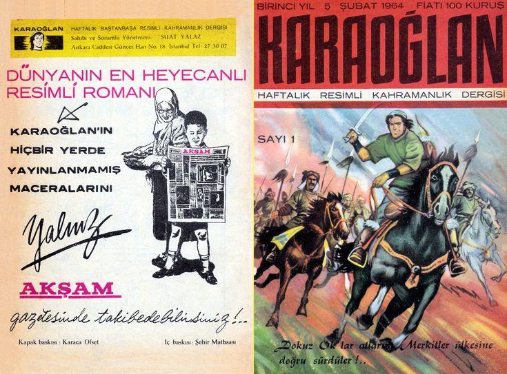 Karaoğlan Haftalık Resimli Kahramanlık Dergisi Sayı 001 - Çizgi Roman Diyarı