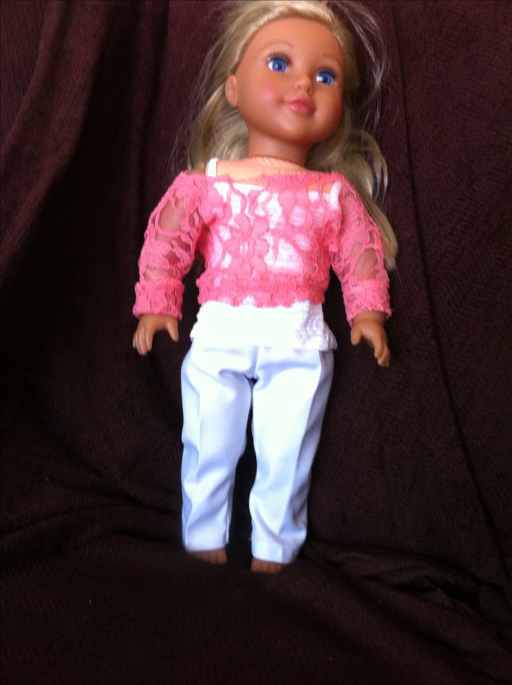 "Lace Dolman and cami American Girl or 18 "" doll"