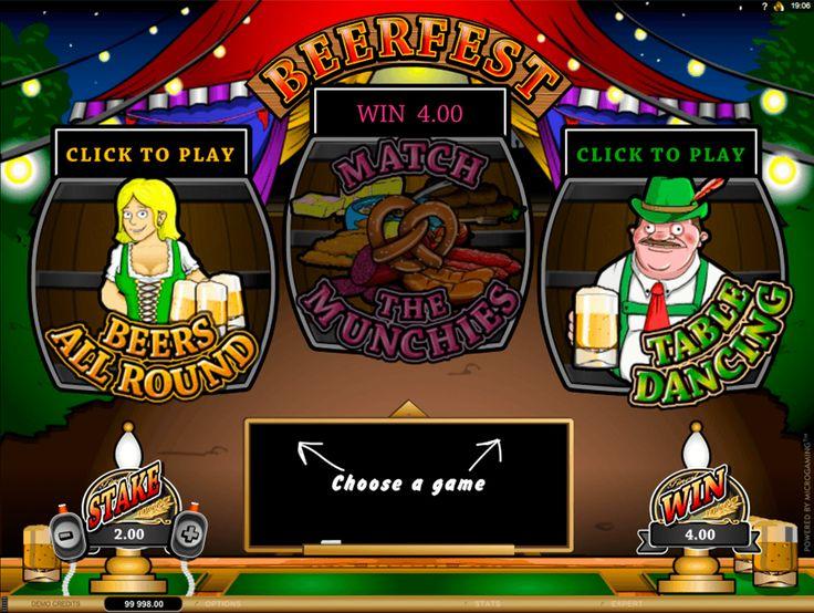 Beer Fest c'est le jeu de grattage de Microgaming qui se compose de trois mini-jeux: il faut deviner le personnage qui boira plus que les autres, trouver le même plat qui se trouve sur le plateau du serveur et sélectionner une table parmi quatre où Fritz dansera. Les multiplicateurs dans chaque partie sont aléatoires, dont le maximum constitue x5000. Amusez-vous bien et gagnez!