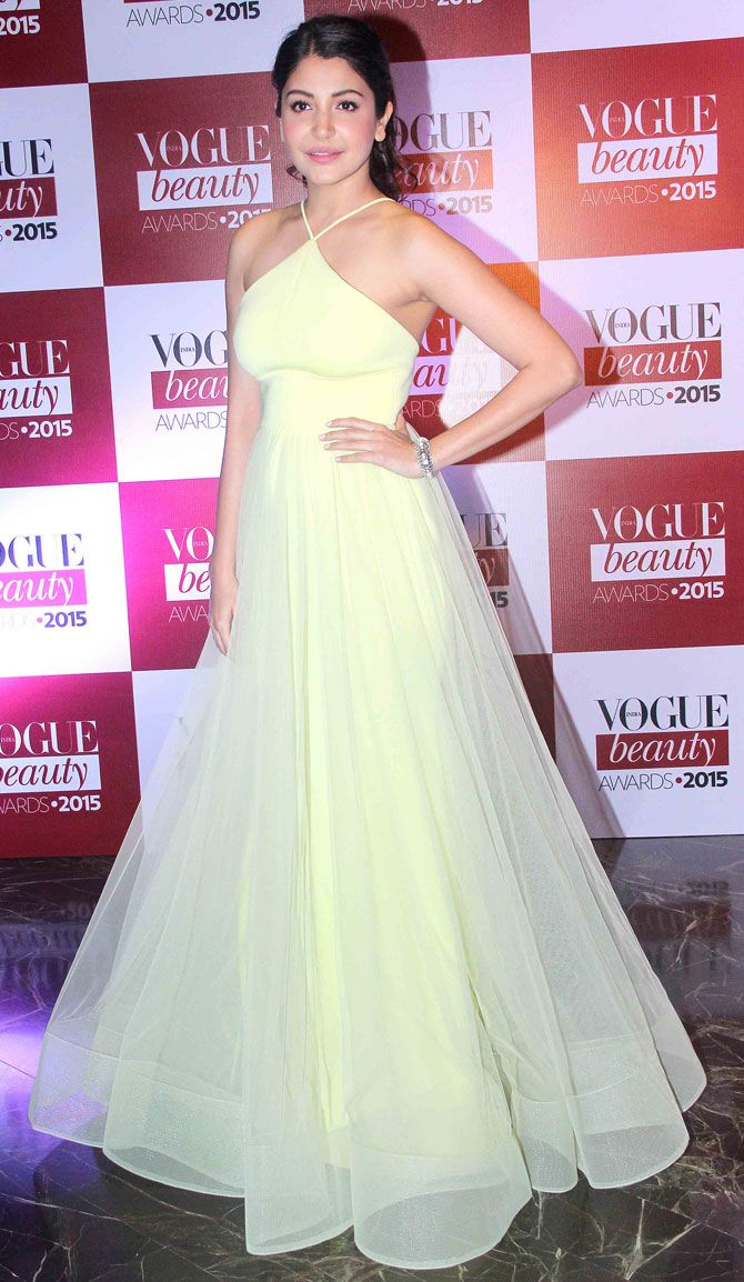 Anushka Sharma at Vogue Beauty Awards 2015.