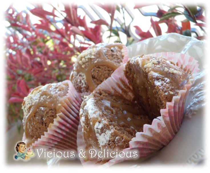 muffin con nutella e caramello salato!