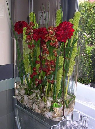 Bloemschikken najaar en herfst - bloemstuk volgens de seizoenen - zomers bloemstuk met vleugje herfst en najaar