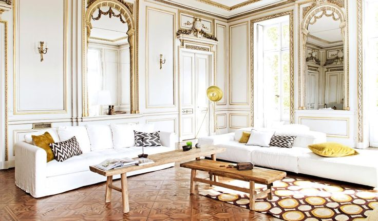 Gold Wall Paneling : French wall paneling with gold trim my home pinterest