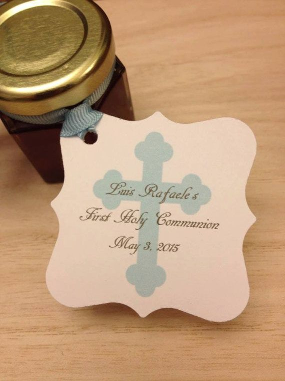 First Holy Communion Favors with Personalized Tags by holyhoney