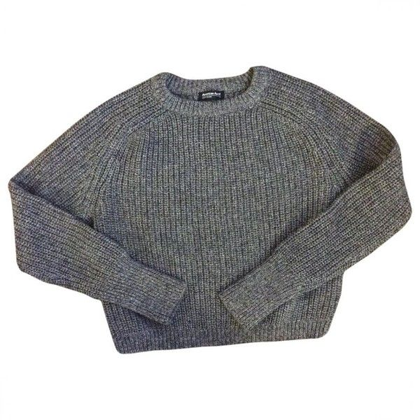 Sweater AMERICAN APPAREL featuring polyvore, women's fashion, clothing, tops, sweaters, jumpers, long sleeves, cotton jumpers, cotton shirts, shirt sweater, shirt tops and cotton sweaters