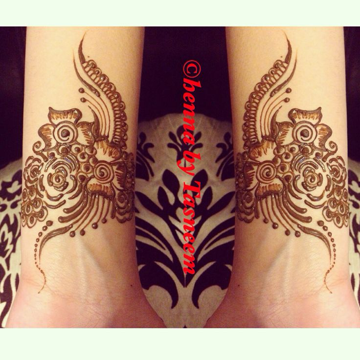 Cute and simple detailed henna
