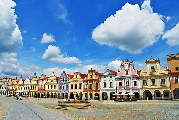 One of the most beautiful town squares I've seen, in Telc, Czech Republic
