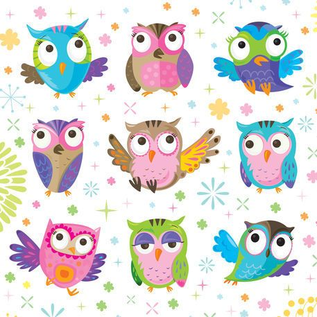 The Owls by Flaming Rhino on artflakes.com as