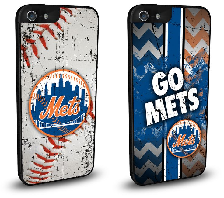 New York NY Mets Cell Phone Hard Case TWO PACK for iPhone 6, iPhone 6 Plus, iPhone 5/5s, iPhone SE, iPhone 4/4s or iPhone 5c