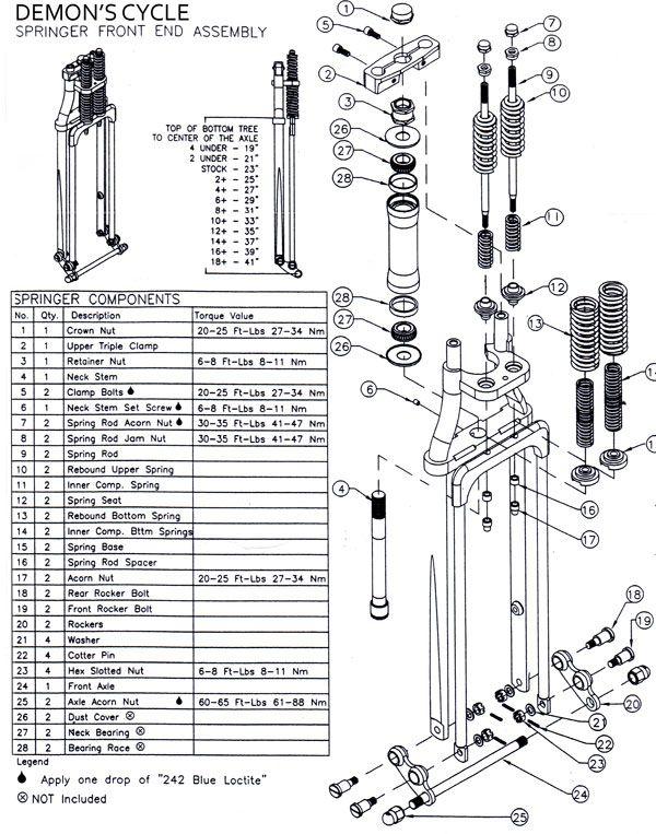springer front end parts list jpg  600 u00d7763