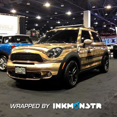 Denver Auto Show Wood Grain Car Wrap For Burton