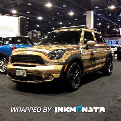 denver auto show wood grain car wrap for burton inkmonstr burtoncolorado schompmini ink. Black Bedroom Furniture Sets. Home Design Ideas