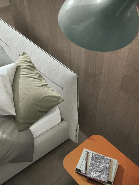 POLIFORM: Jacqueline bed and Vulcano coffee tables