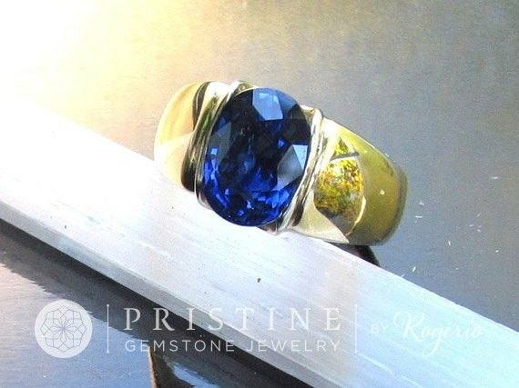 ...and what about him? #etsy shop: Ceylon Blue Sapphire Gold Ring with Fine 3ct Blue Sapphire September Birthstone #ring #blue #sapphire #oval #jewelry #stone #menssapphirering #finesapphirering #gemstonering #ceylonsapphirering http://etsy.me/2i3NXES