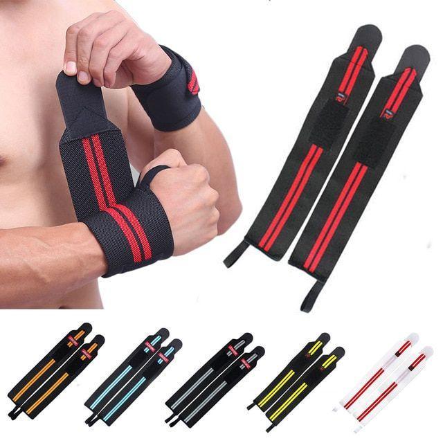 Bodybuilding Wrist Wraps Bandage Weight Lifting Bar Straps Band Wrap