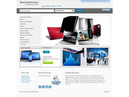 J-BusinessDirectory Template