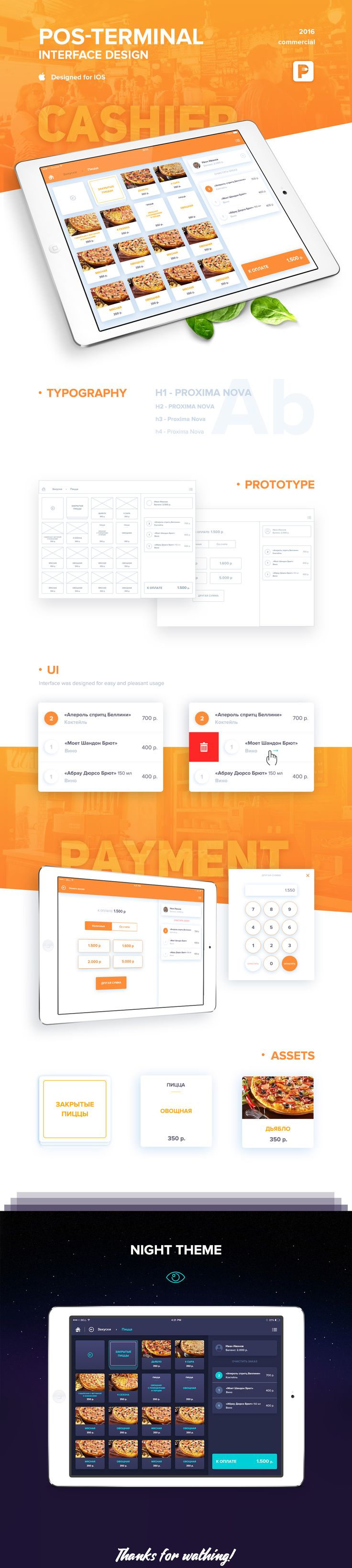 Restaurant POS Interface on Behance
